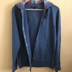 Banana Republic Men's Blue Zip Up Hoodie - S